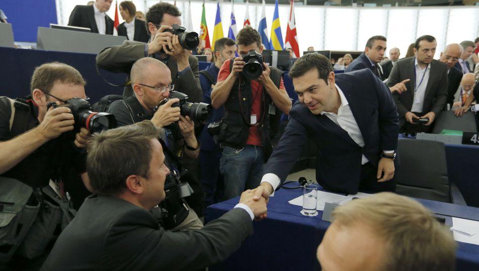 Tsipras-Auftritt im EU-Parlament: Viel geredet, wenig gesagt