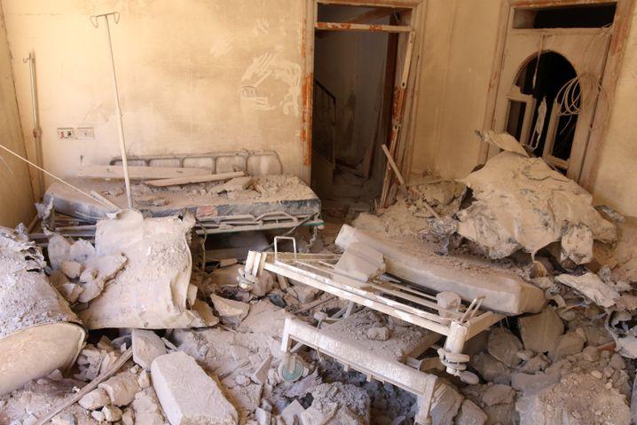 Zerstörtes Feldlazarett in Aleppo