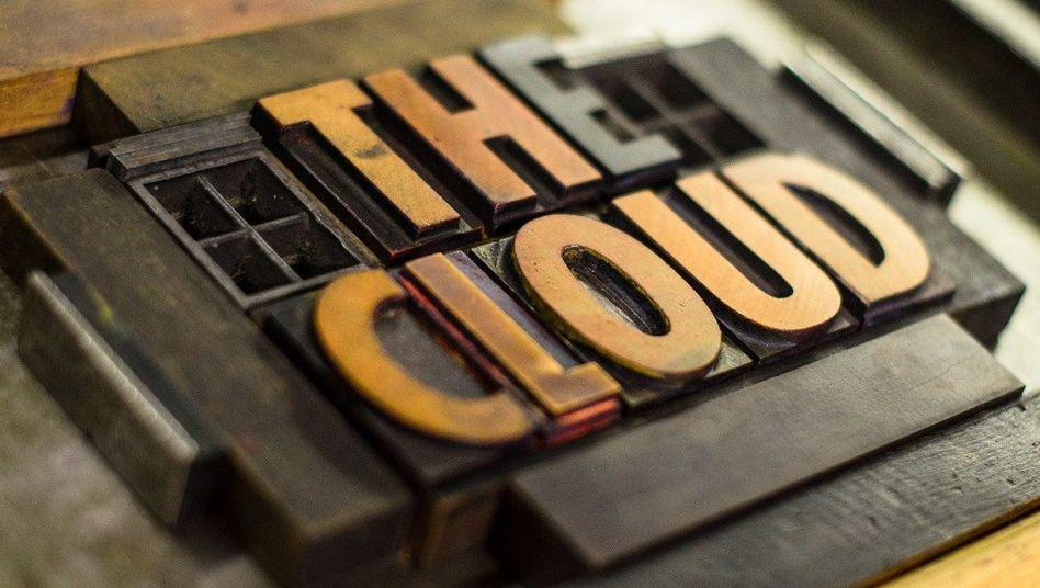 """Schriftzug """"The Cloud"""""""""""
