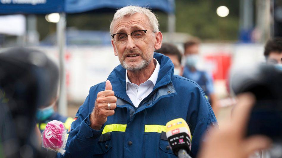 Der Präsident des Bundesamtes für Bevölkerungsschutz und Katastrophenhilfe Armin Schuster