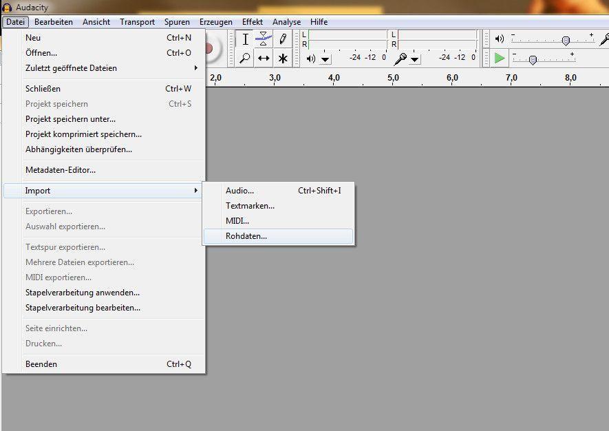SCREENSHOT EXE Files / Sound / Audacity