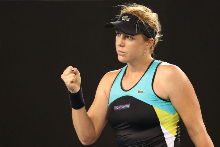 Anastasia Pavlyuchenkova dominierte das Spiel mit ihrer Vorhand