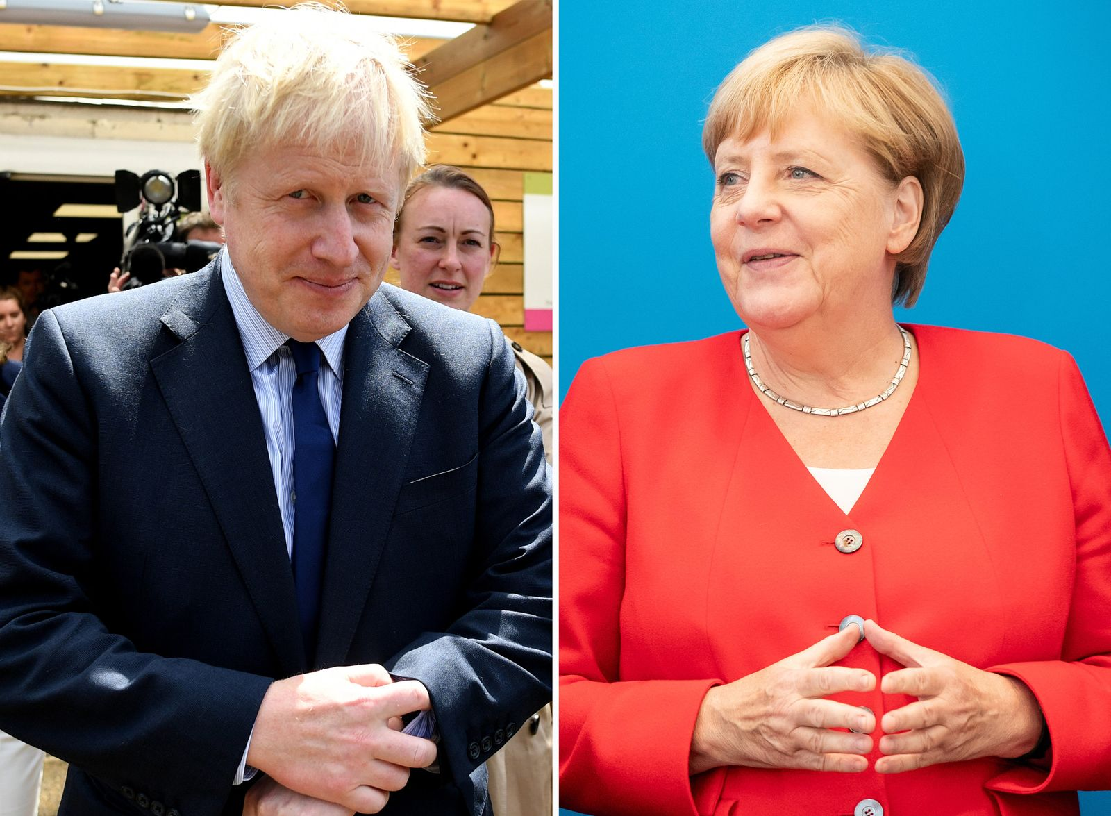 Boris Johnson / Angela Merkel