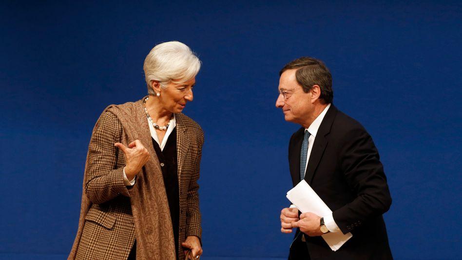 Christine Lagarde und Mario Draghi
