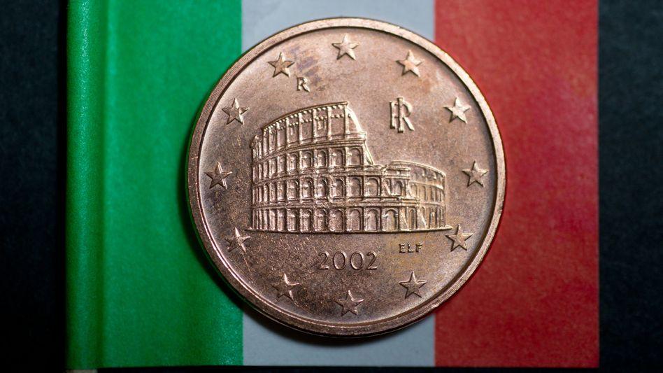 Italienische Fünf-Cent-Münze