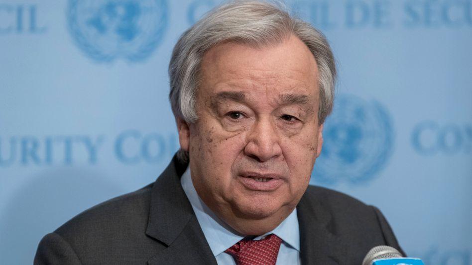 António Guterres: Bis Endes des Jahres will er eine weltweite Waffenruhe durchsetzen