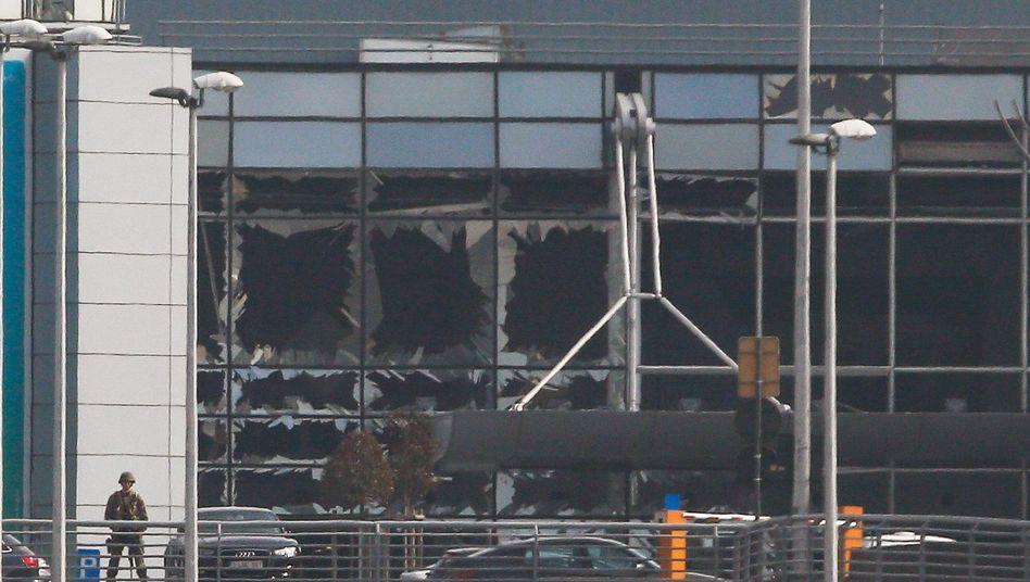 Zerstörung am Flughafen in Brüssel