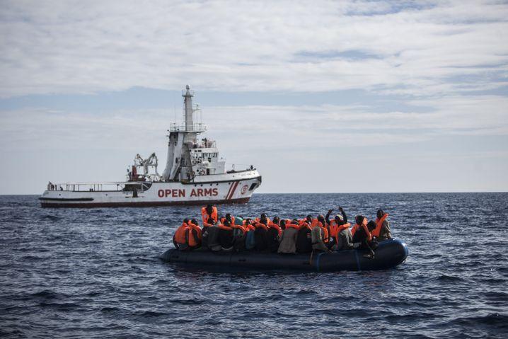 Refugees on the Mediterranean in October