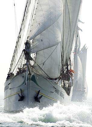 """Der Segler """"Mare Frisium"""" kam aus den Niederlanden zu dem Hanse-Treffen"""