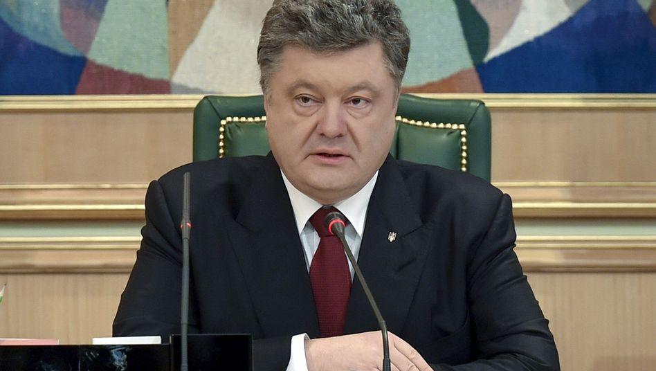 """Ukrainischer Präsident Poroschenko: """"Verunglimpfung des Gedenkens an die Opfer"""""""