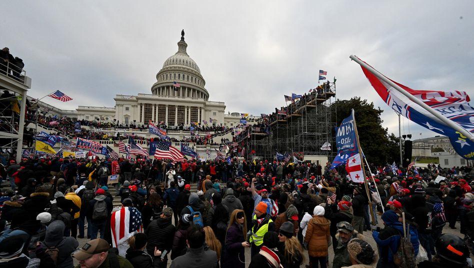 Demonstranten vor dem US-Kapitol