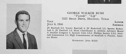 Bush im Jahrbuch der Phillips Academy in Andover (1964): Auf dem Weg ins Elitecollege