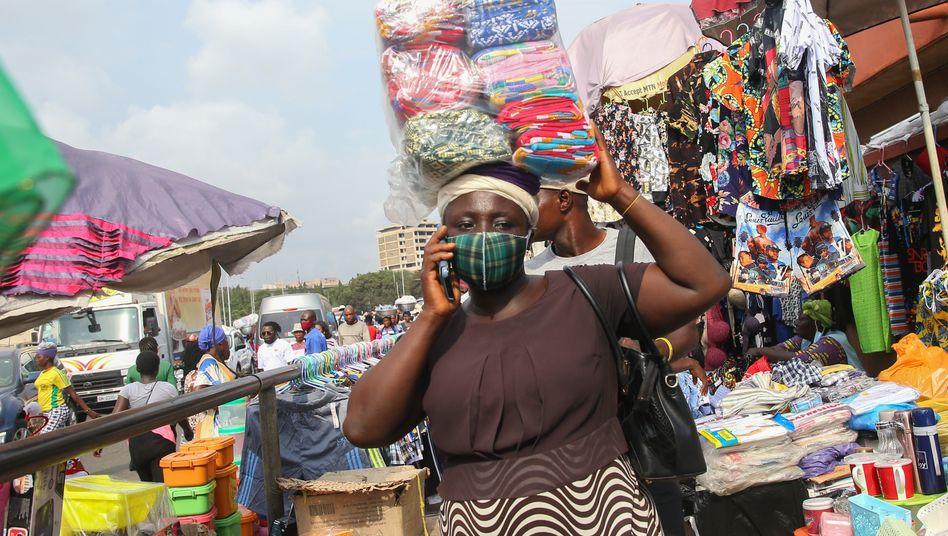 Straßenszene in Ghanas Hauptstadt Accra: »Not macht erfinderisch«