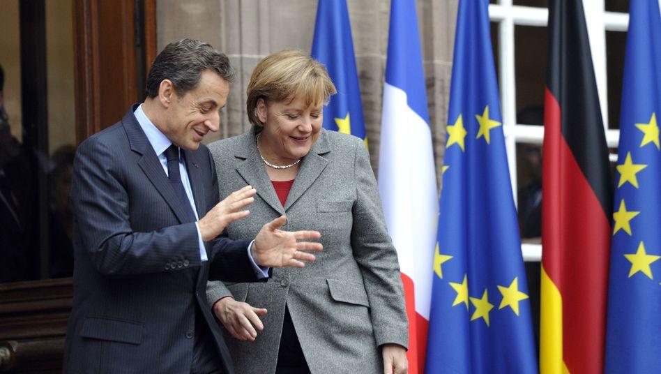 Sarkozy, Merkel am 24. November in Straßburg: Weichklopfen bis zum Gipfel