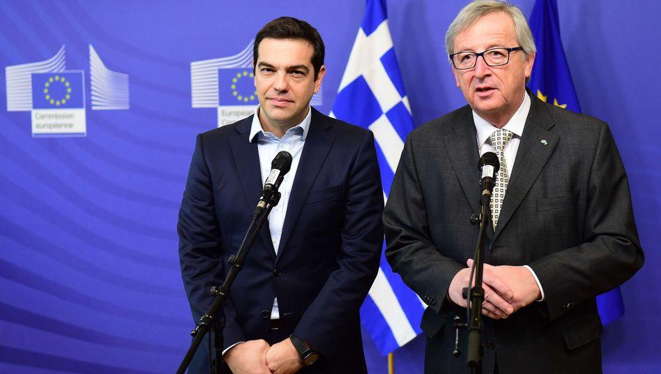 Tsipras, Juncker: In Brüssel geht die Geduld zu Ende