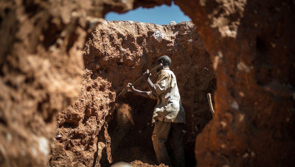 Minenarbeiter im Kongo schürfen oft unter prekären Bedingungen Kobalt
