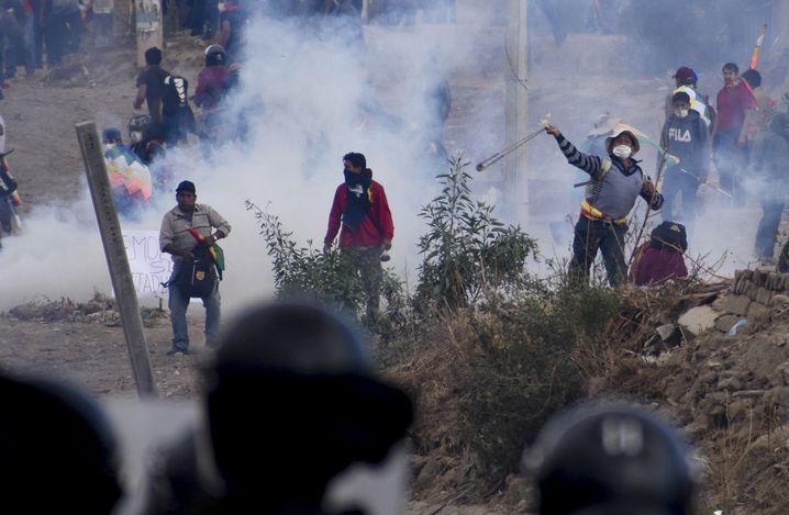 Unterstützer des Ex-Präsidenten Morales: Zusammenstöße mit den Sicherheitskräften