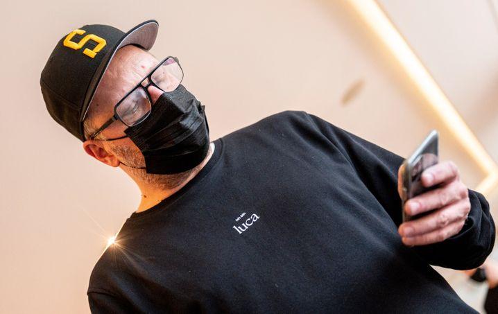 Rapper »Smudo« bei Vorstellung der Luca-App im Dezember 2020