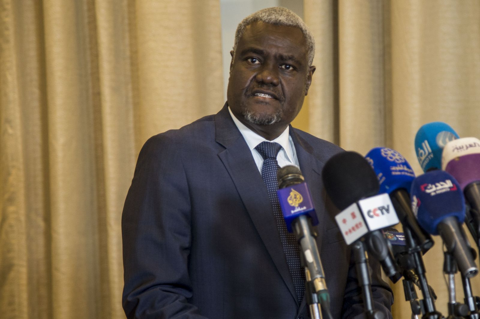 Chairperson of the African Union Commission Moussa Faki in Sudan