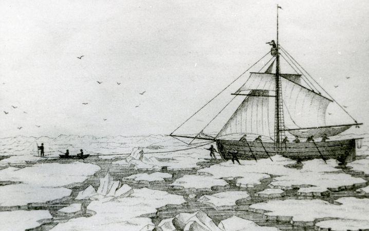 Die Expedition: Mühsam durch die Eisschollen, auf der Suche nach Lücken