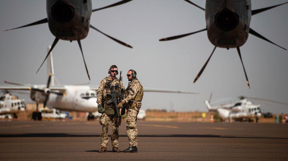 Deutsche Soldaten am Flughafen in Gao, Mali (Archivbild):