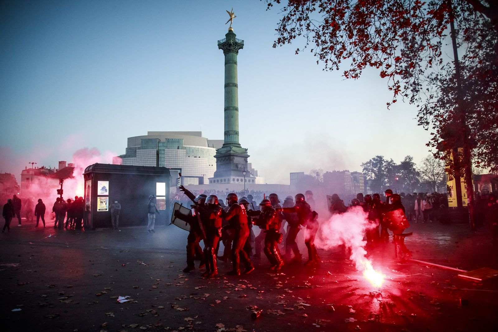 Protest against the newly voted global security law in Paris, France - 28 Nov 2020