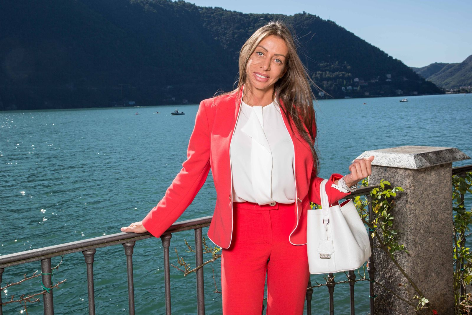 September 6 2015 Italia The senator Mariarosaria Rossi wearing a suit by Elisabetta Franchi and