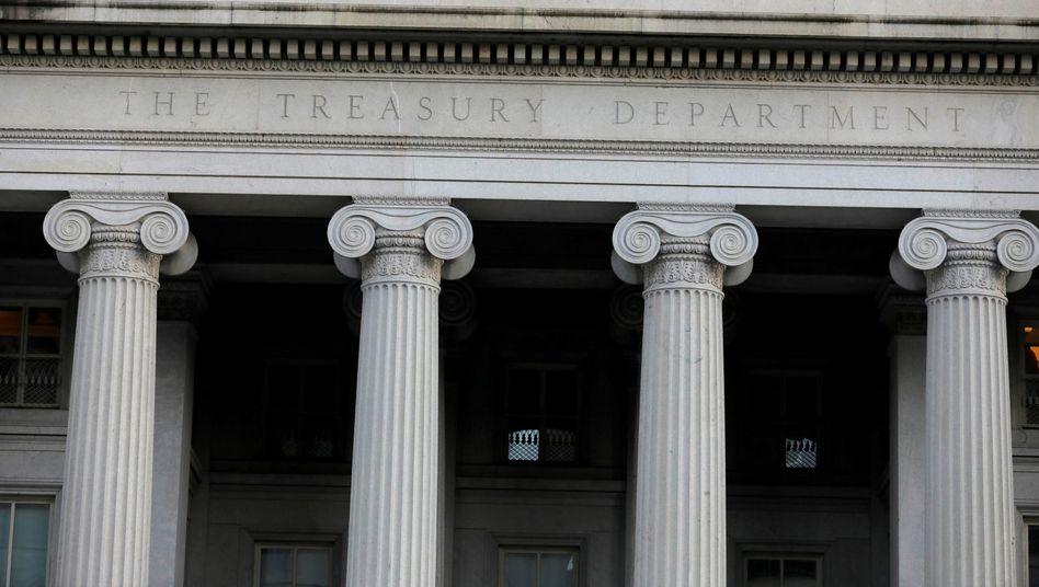 Die Sanktionen richten sich gegen fünf iranische Organisationen, teilte das US-Finanzministerium (im Bild) mit