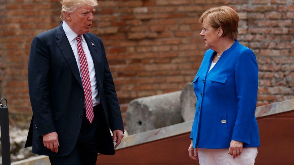 Bundeskanzlerin Angela Merkel, US-Präsident Donald Trump