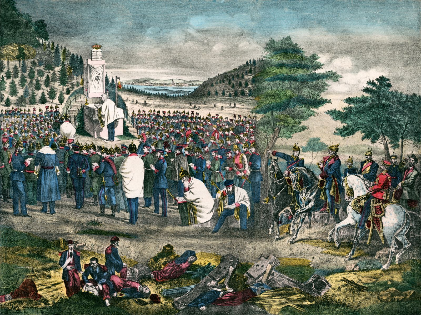 Yom Kippur, Day of Atonement Service during the Franco-Prussian War