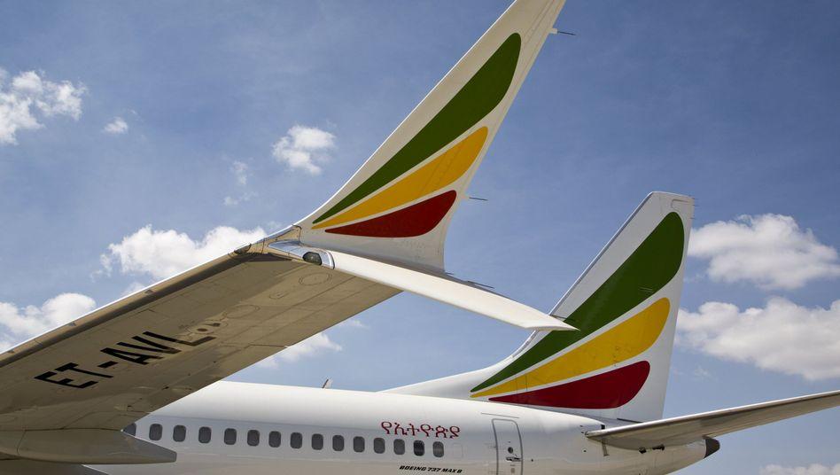 """Eine Boeing 737 Max 8 der Ethiopian Airlines: """"Wir sprechen Abstürze nicht von uns aus an"""""""