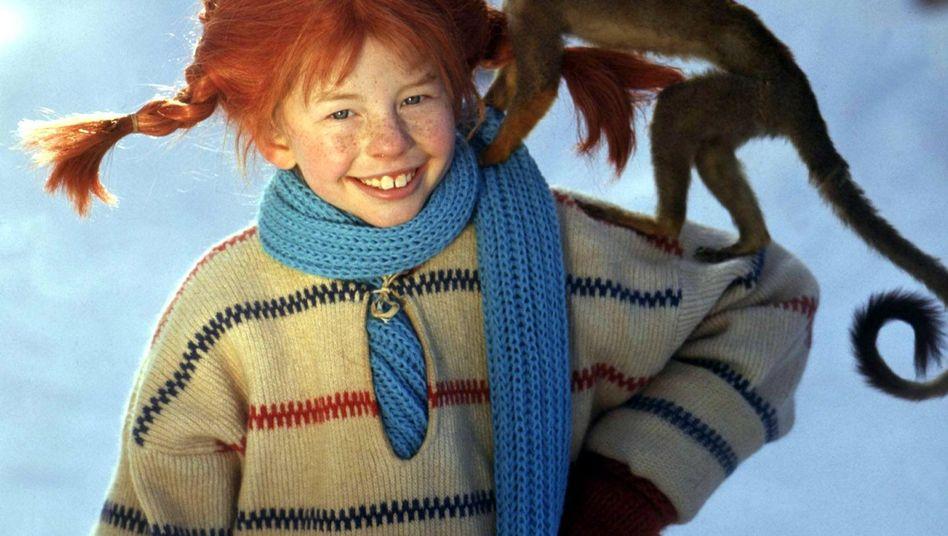 Schauspielerin Inger Nilsson 1968 als Pippi Langstrumpf