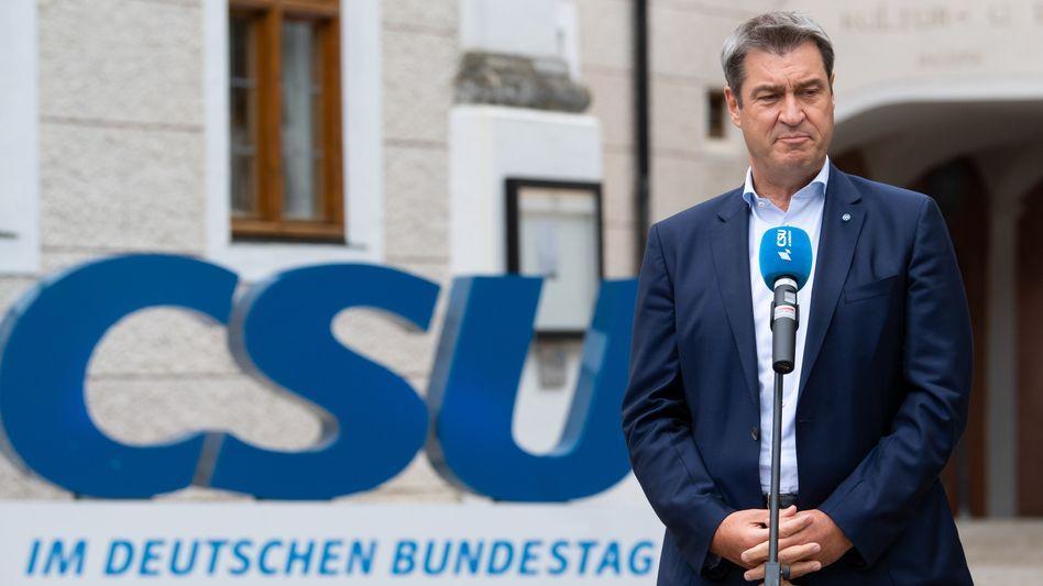 CSU-Chef Söder im Kloster