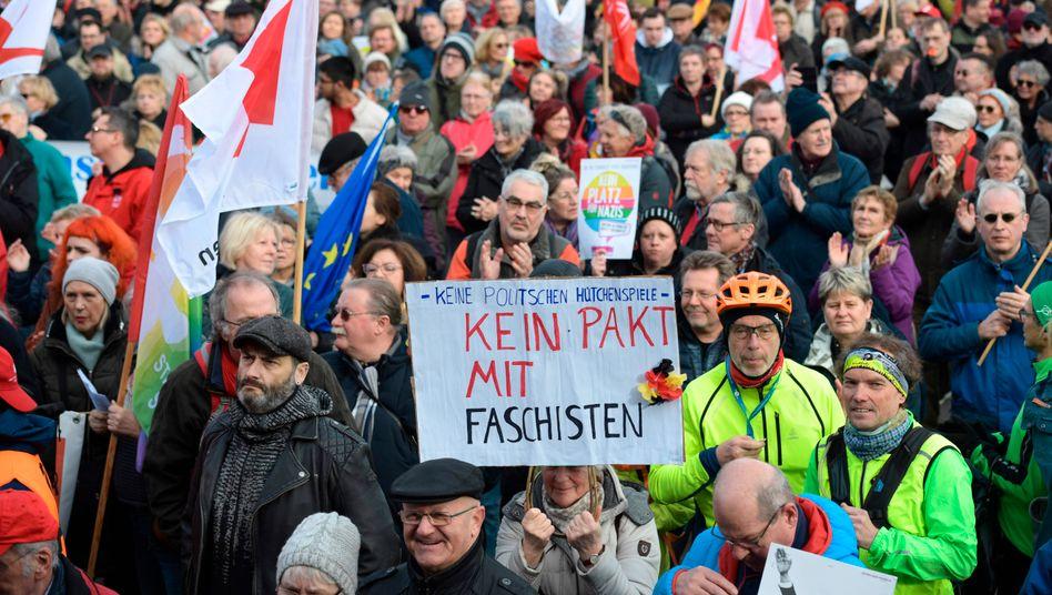 Demonstration gegen Faschismus in Erfurt