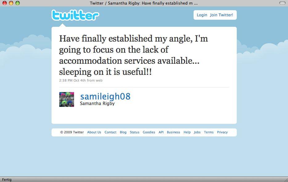 Screenshot / Twitter / Samantha Rigby