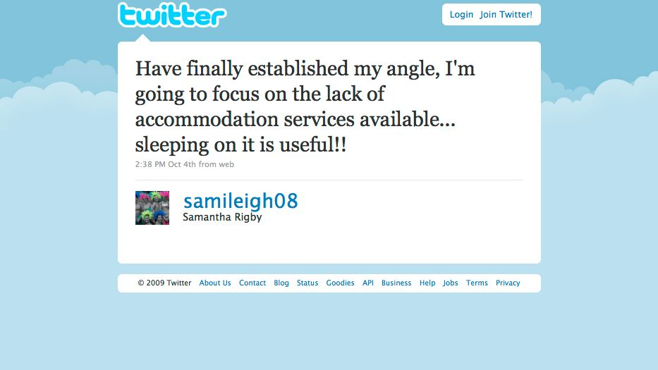 Tweet der Studentin Samantha: Hurra, ich hab ne These!