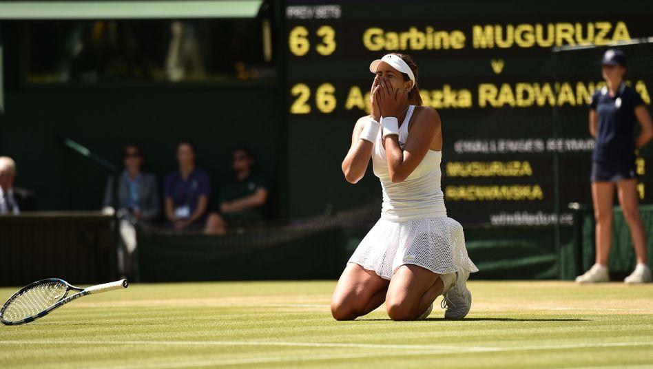 Tennisprofi Muguruza: Erste Spanierin im Wimbledon-Finale seit Sanchez-Vicario
