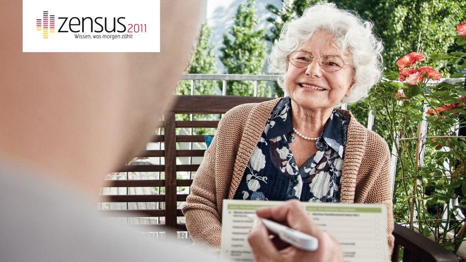 PR-Bild für den Zensus 2011: Volkszählung ist toll - lautet die Botschaft