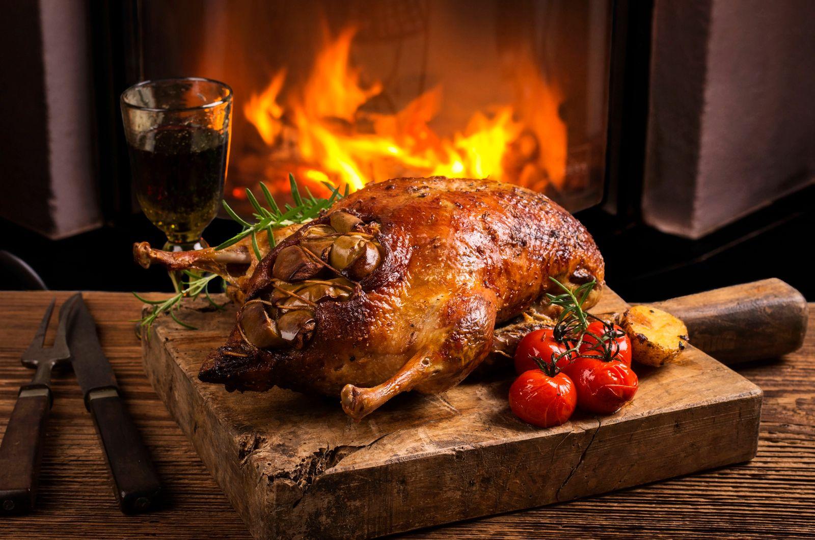 weihnachtsessen,französische küche,entenbraten *** christmas dinner,french cuisine,duck meat khh-hx4
