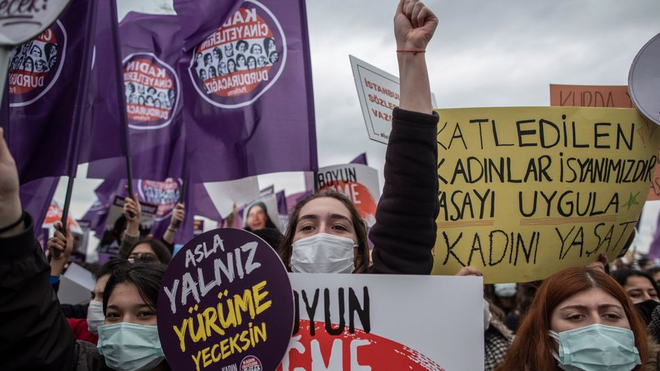 Frauenprotest in Istanbul