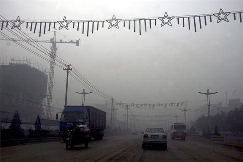 Linfen in China: Kohlestaub und Abgase verdunkeln die Sonne
