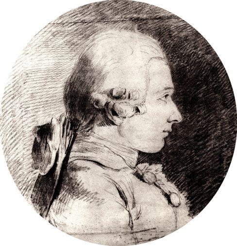 Portrait von Donatien Alphonse Francois de Sade