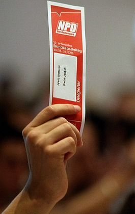 The right-extremist party NPD found ballot-box success on Sunday.
