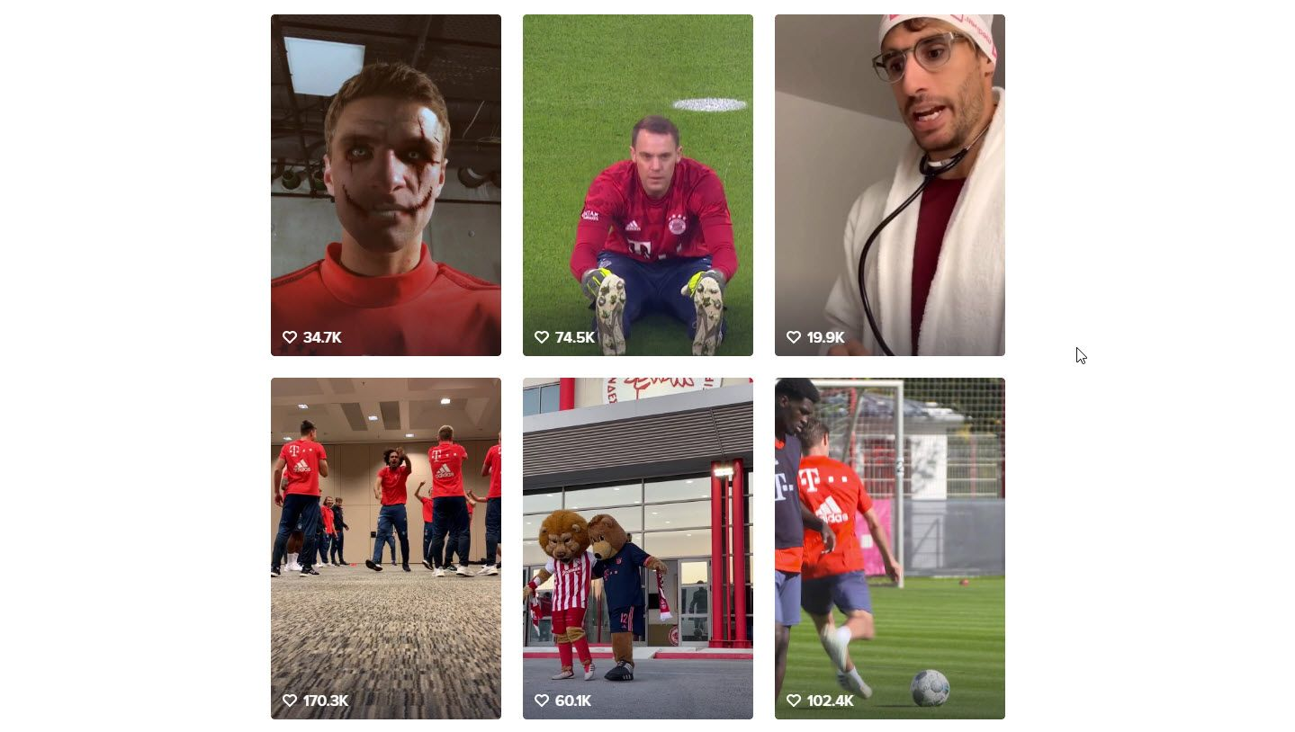 TikTok-Accounts @fcbayern