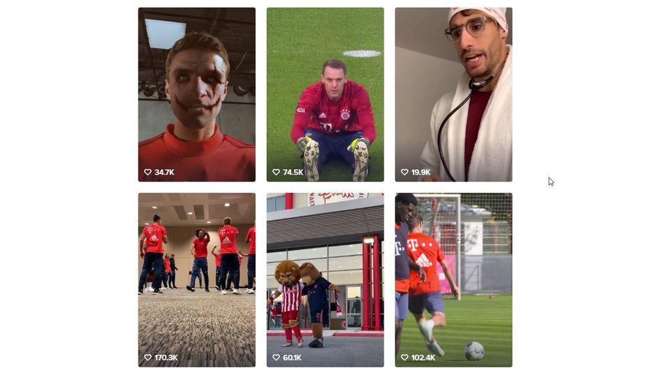 Fußballklubs auf TikTok: Horror-Müller und ein Dino im Tanzwahn