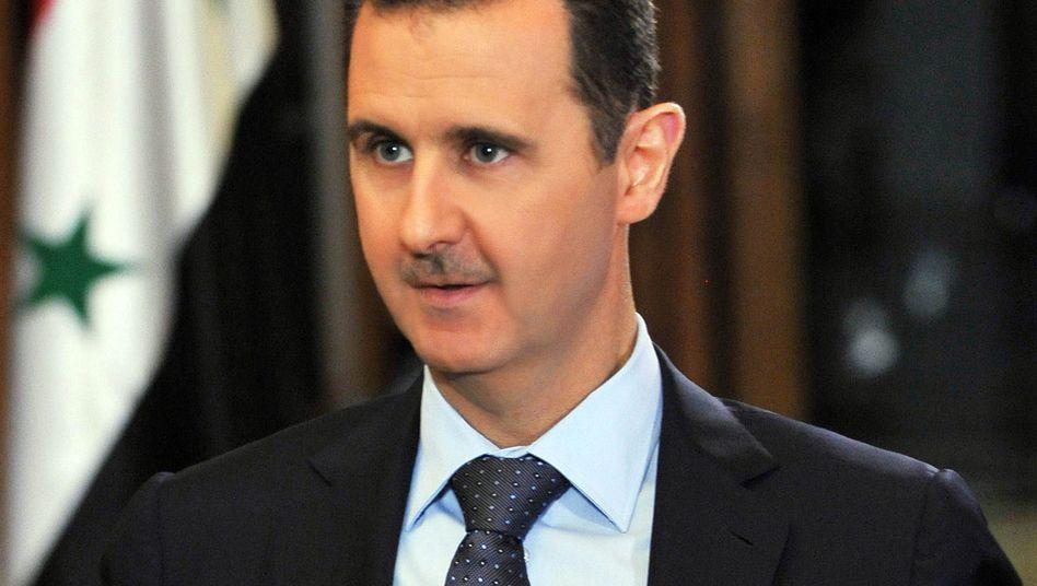 Syriens Präsident Assad: Seine Regierung kündigte an, sich von allen chemischen Waffen zu trennen