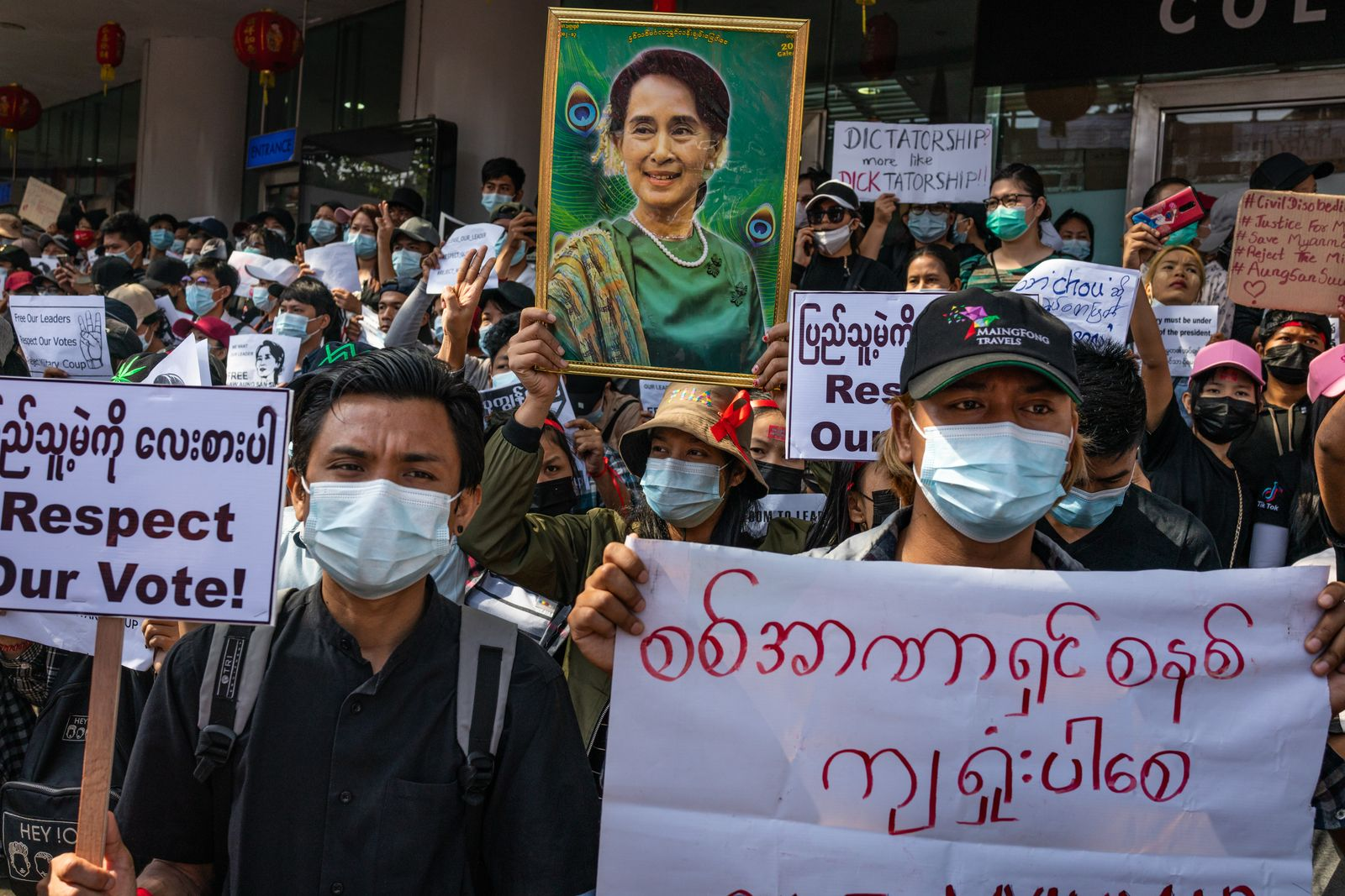 Protesters Take To Yangon's Streets Despite Martial Law