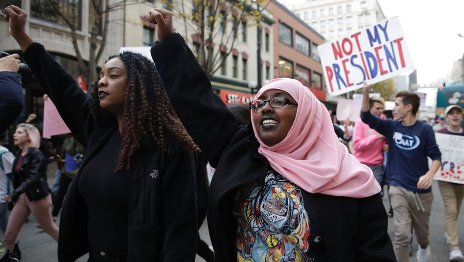 Anti-Trump-Demonstration in Seattle