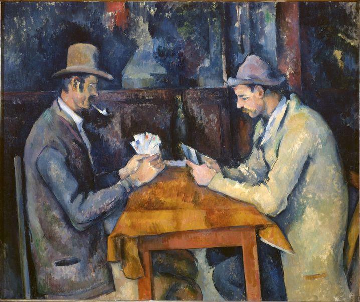 """Derzeit teuerstes Gemälde der Welt: """"Die Kartenspieler"""" von Paul Cézanne"""