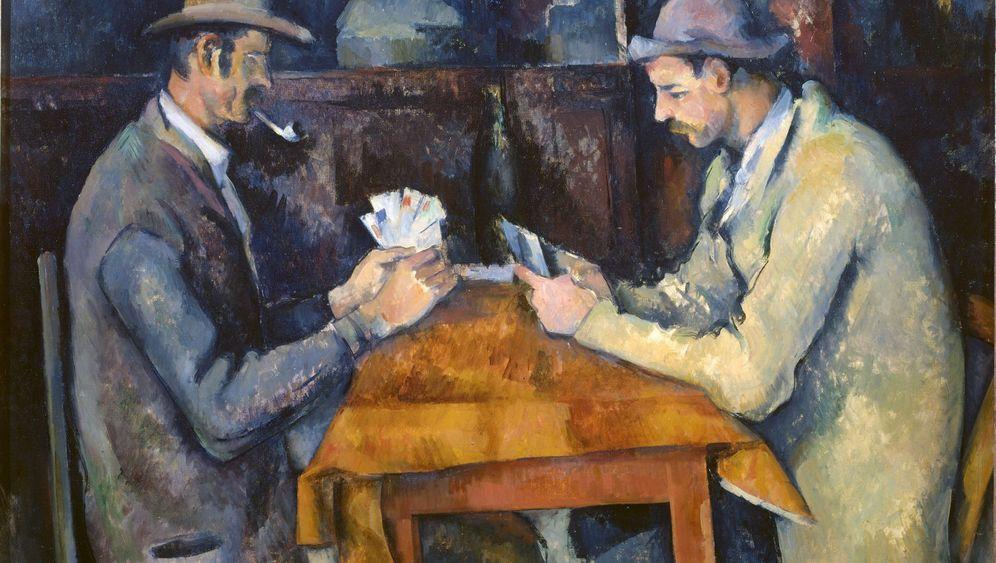 Teuerste Gemälde der Welt: Kartenspieler und Kunsttropfen